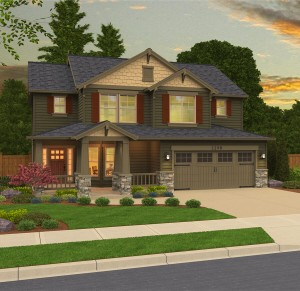 The Abbywood home plan elevation