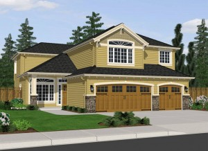 The Berkshire home plan elevation