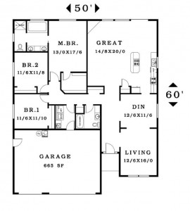 The Brentwood - Floorplan