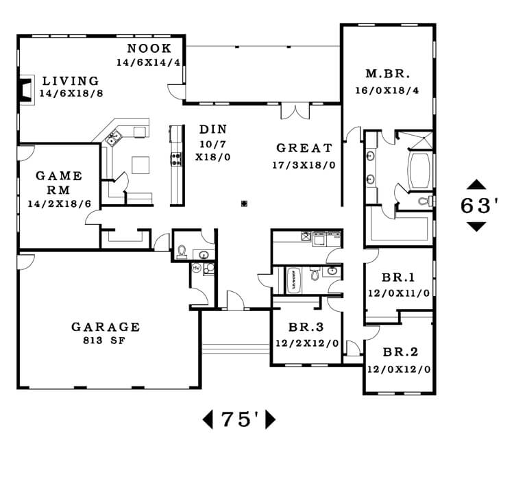 The Burbank - Floorplan home plan