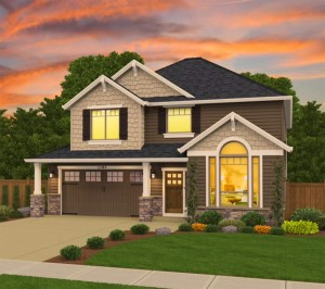 The Cannondale home plan elevation