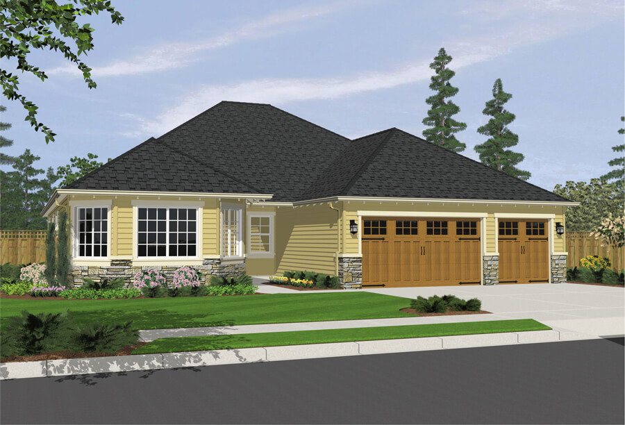 The Clayton home plan elevation