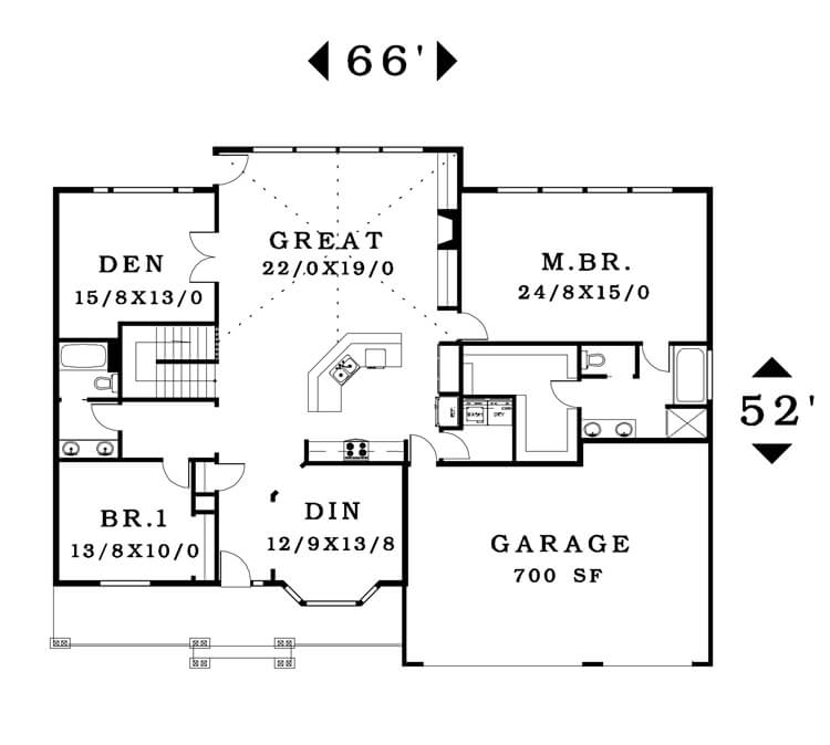 The Dublin - Floorplan home plan