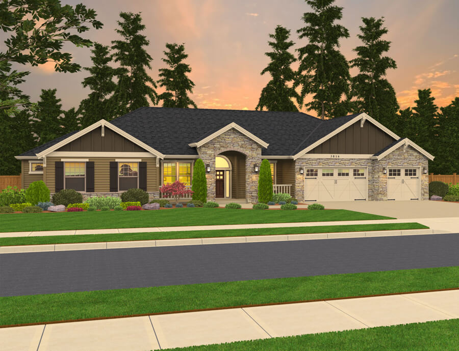 The Ellington home plan elevation