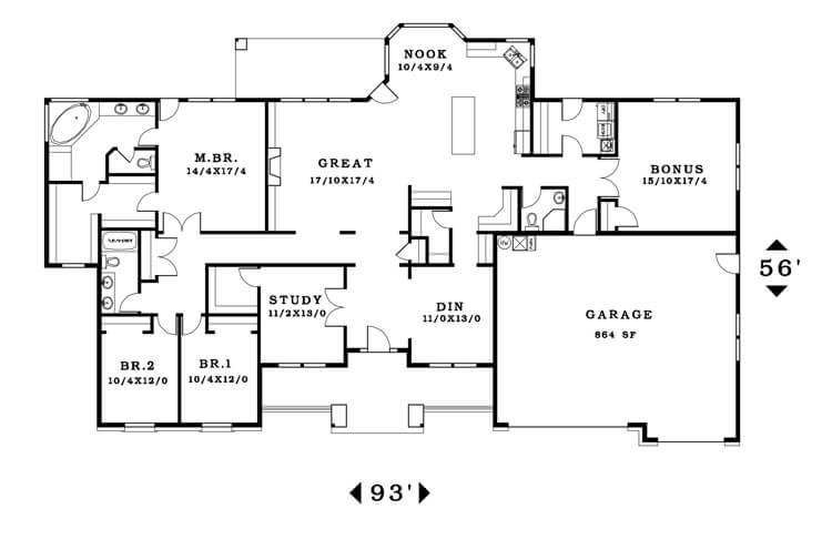 The Ellington - Floorplan home plan