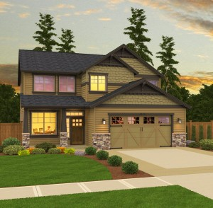 The Glenhaven home plan elevation
