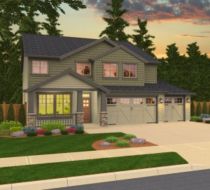 The Kensington home plan elevation