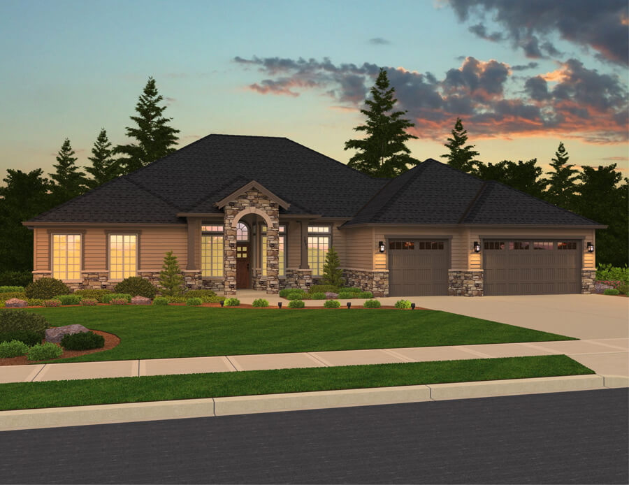 The Monroe home plan elevation
