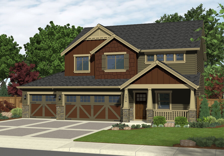 The Prineville home plan elevation