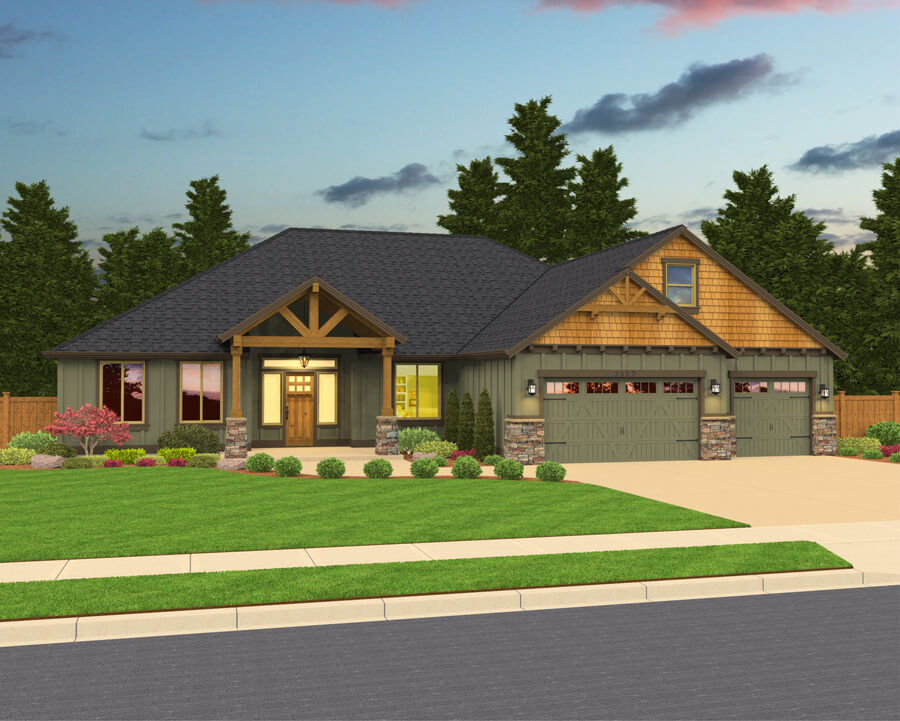 The Riverside home plan elevation