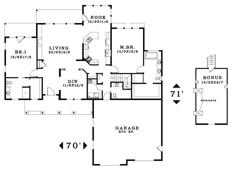 The Riverside - Floorplan home plan