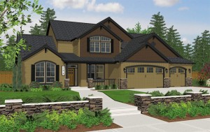 The Riverton home plan elevation