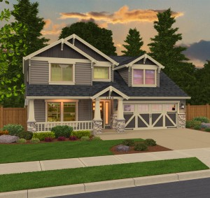 The St. Helen home plan elevation