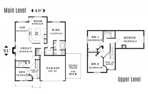 The St. Helen - Floorplan home plan