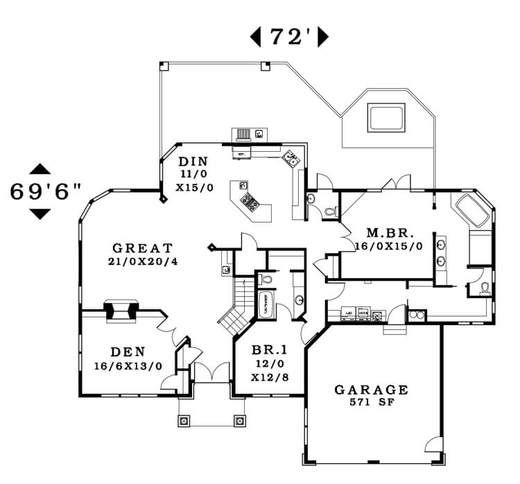 The Westfall - Floorplan home plan