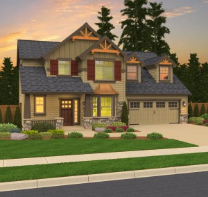 The Bainbridge home plan elevation