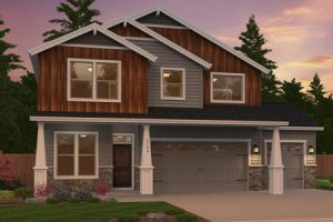 The Hampton home plan elevation