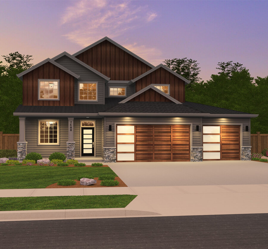 The Cypress home plan elevation