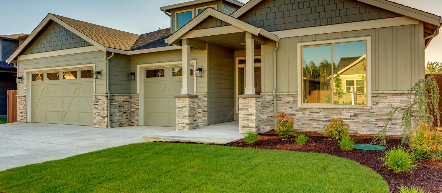 Careful landscaping and stone exteriors